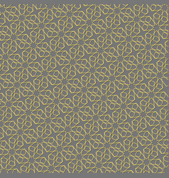 background with gold pattern on gray backgroud in vector image