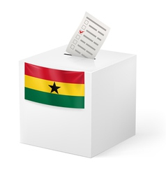 Ballot box with voting paper Ghana vector