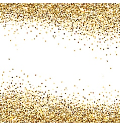 Banner of Gold Sequins vector image