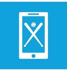 Baseball app icon simple vector image