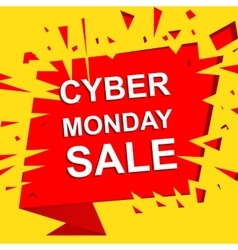 Big sale poster with CYBER MONDAY SALE text vector