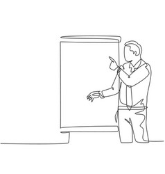 Business investment concept one continuous line vector