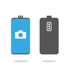 camera screen phone mobile interface app vector image