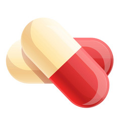 Capsule pills icon cartoon style vector