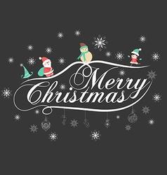 Christmas typography handwriting vector
