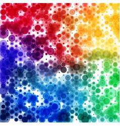 circular rainbow color spectrum pattern square vector image