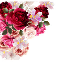 Cute flower bouquet for design vector