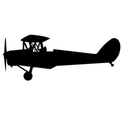 Dh tiger moth side silhouette vector