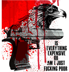 eagle slogan poster graphic design vector image