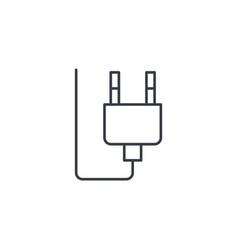 electric plug thin line icon linear symbol vector image