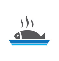 fish grill logo image vector image