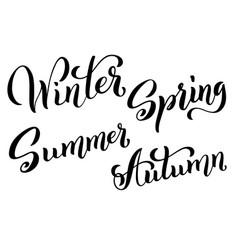 four seasons set spring summer autumn winter vector image