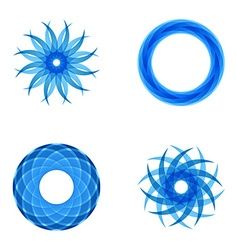 Four segmented radial patterns vector image