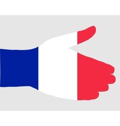 French handshake vector image vector image