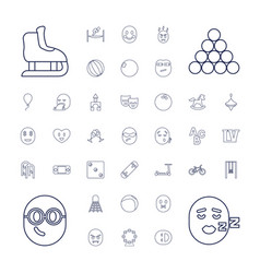 Fun icons vector