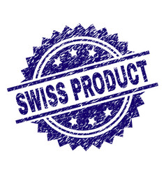 Grunge textured swiss product stamp seal vector