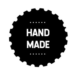 hand made stamp vector image