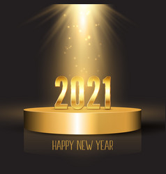 happy new year background with podium design vector image