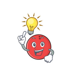 Have an idea bowling ball character cartoon vector