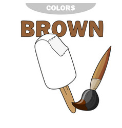 Ice cream - coloring page worksheet game for vector