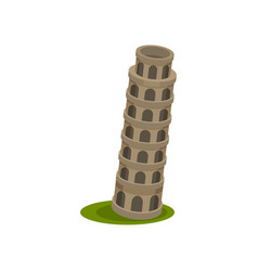 image leaning tower vector image