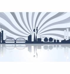 Industrial cityscape vector