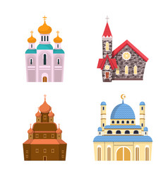 Isolated object religion and building icon vector