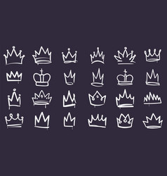 king sketch crown hand drawn doodle crowns vector image