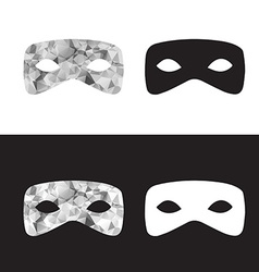 Magictriangle mask black and white low poly mask vector
