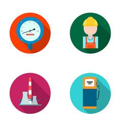 manometer worker oilman fuel refueling oil vector image