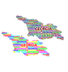 Map of georgia country vector