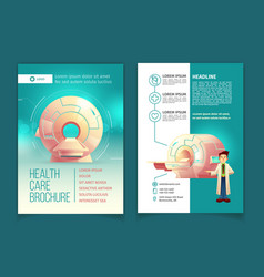 Medical examination brochure health care vector