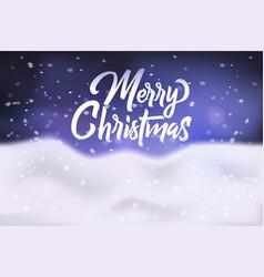 merry christmas congratulation banner poster vector image