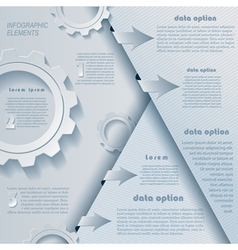 Modern infographics design with cogwheels vector image