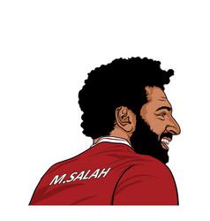 Mohamed salah mo salah portrait vector