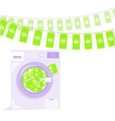 Money laundering in washing machine vector