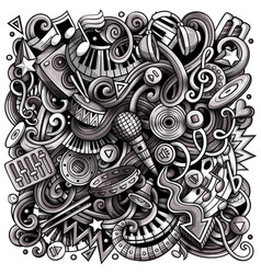 Music hand drawn doodles vector