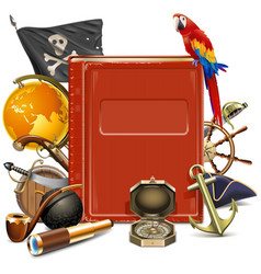 pirate concept with book vector image