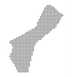 Pixel map of guam dotted map of guam isolated on vector