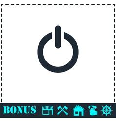 Power icon flat vector