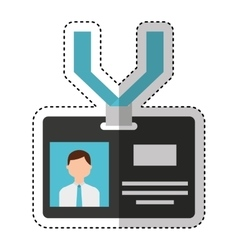 Press badge id isolated icon vector