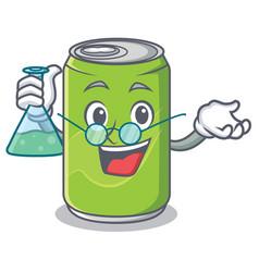 Professor soft drink character cartoon vector