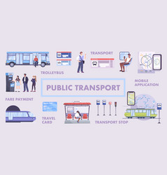public transport flowchart vector image