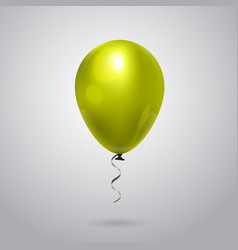 realistic balloon with ribbon isolated on grey vector image