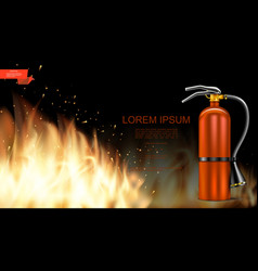 realistic burning flame template vector image