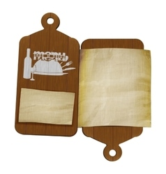 restaurant menu template cutting boards and old vector image vector image