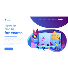 revision week concept landing page vector image