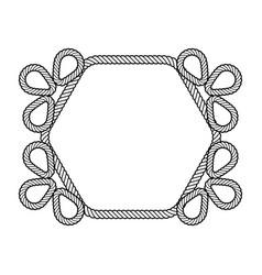 rope decor hexagon vector image