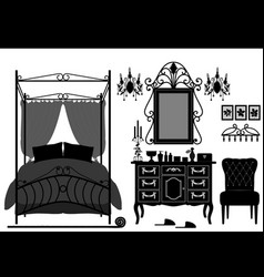 royal bedroom room old antique victorian vector image