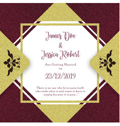 royal wedding invitation card template vector image
